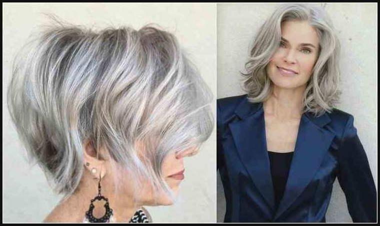 Frisuren Bob Graue Haare Bob Frisuren Pinterest Hair Styles
