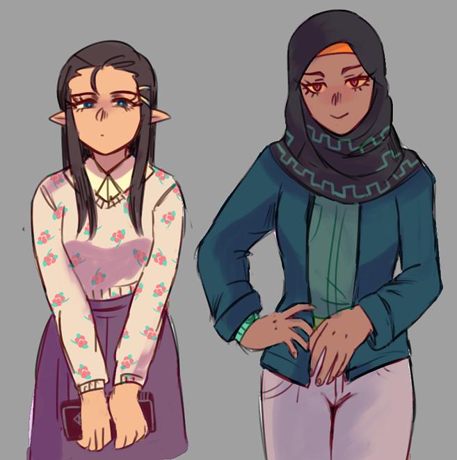 Modern day zelda and midna