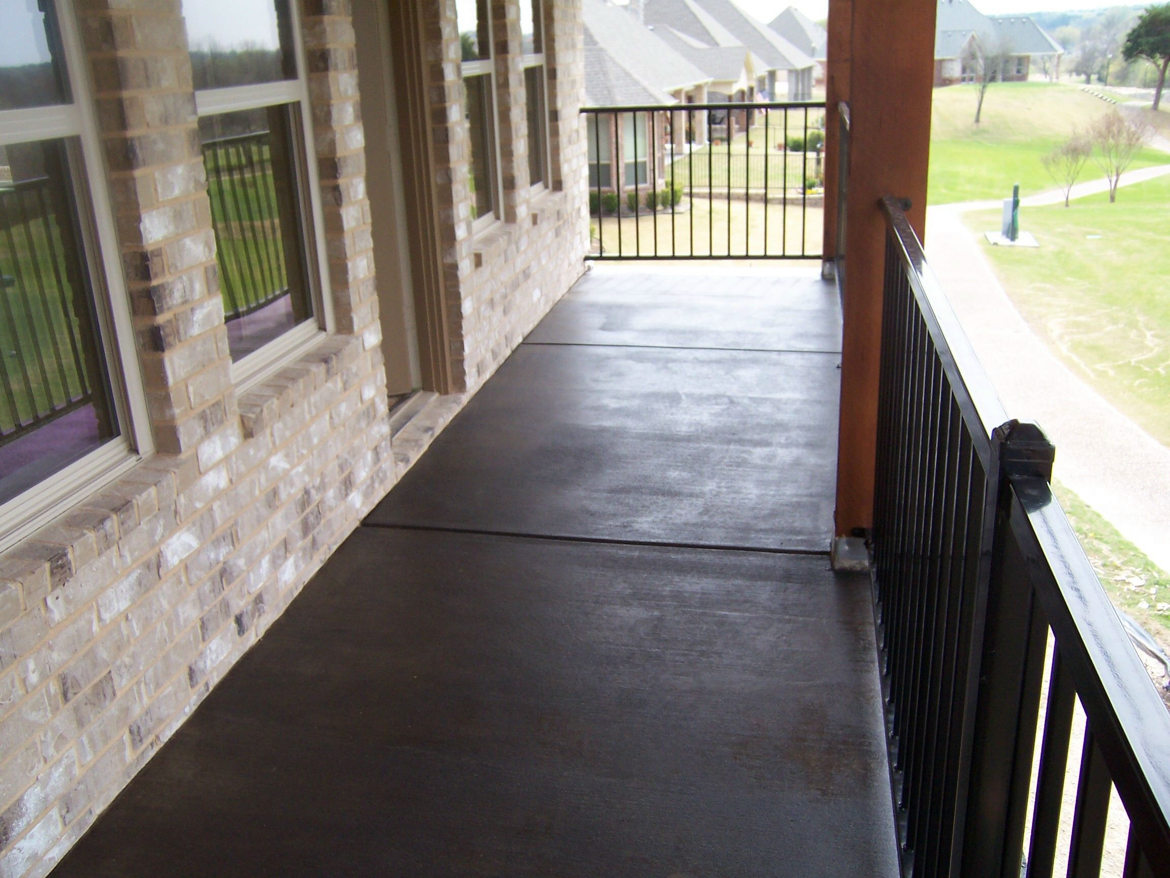 Stained Concrete 2nd Floor Balcony Black Stain