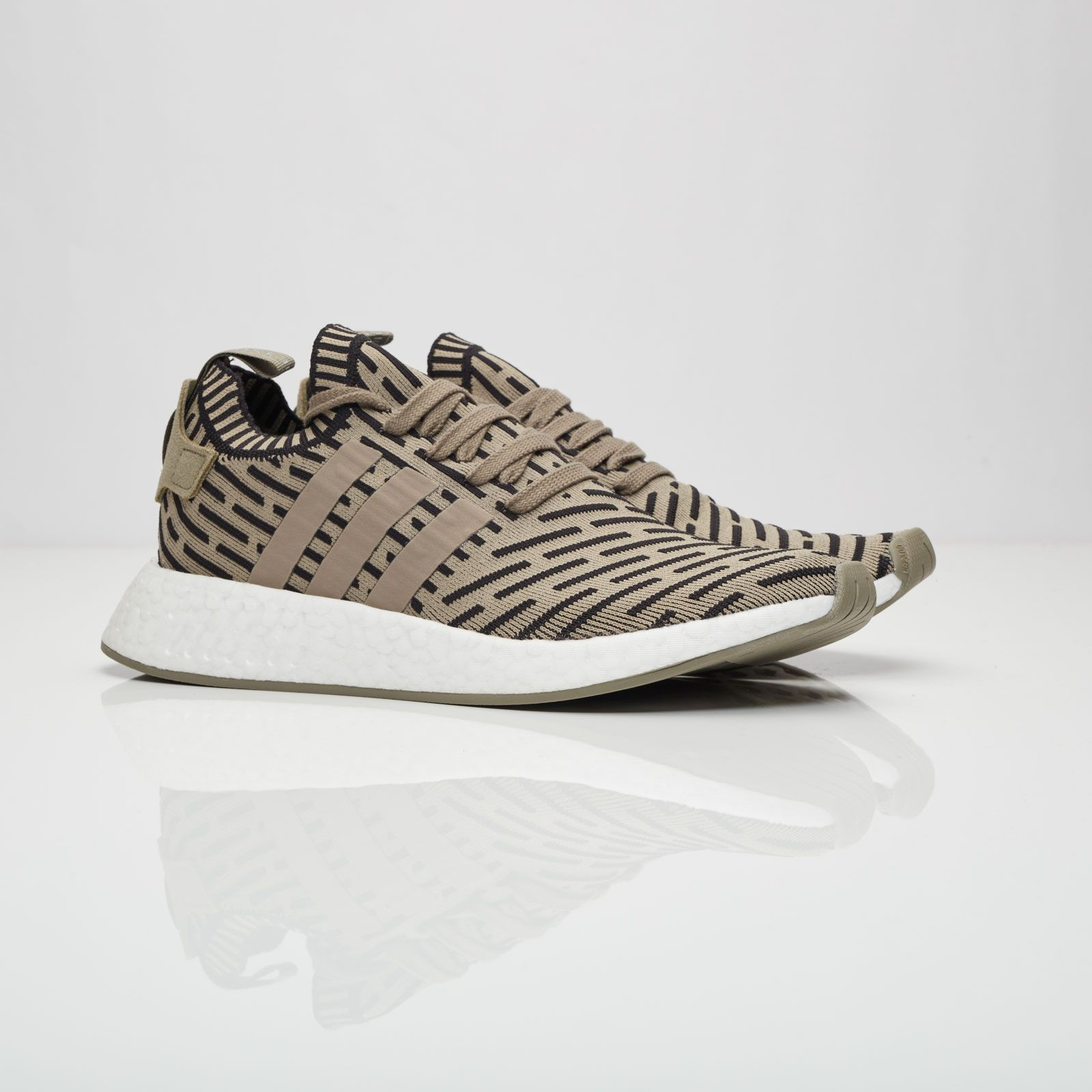 MIDNIGHT ONLINE Adidas #NMD R2 PK Trace Cargo / Core Black Credit :  Sneakersnstuff
