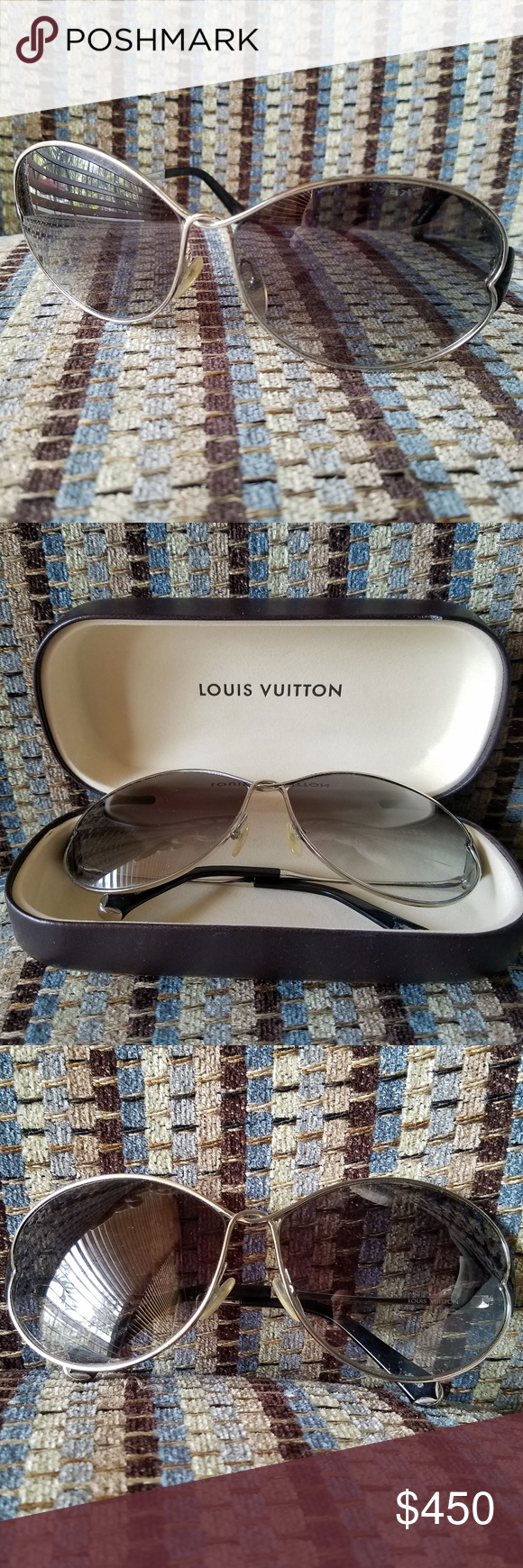 8eca8f260db Louis Vuitton Daisy Sunglasses in silver   black Z0261U - Silver   black  Louis Vuitton Daisy oversize sunglasses with metal frame