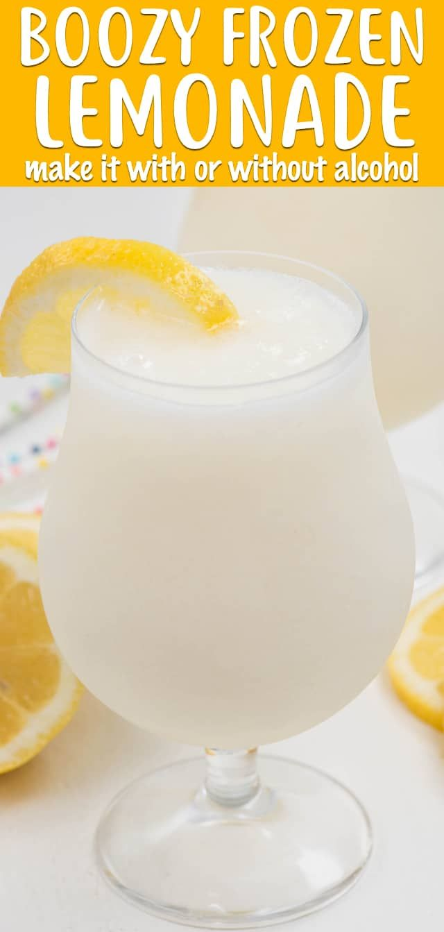Icy Blender Lemonade #frozenlemonade
