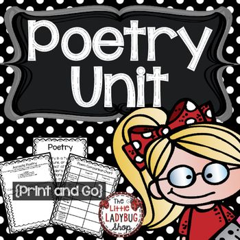 Poetry Poetry Unit  is perfect to TEACH your whole Poetry Unit of Study! Poetry is my favorite genre to teach and you truly see students light up when they understand and learn to LOVE it! We focused on Poetry all year in my classroom, and I have many other Poetry resources to help you teach and make it fun for your kids to grow as POETS!Included in Poetry Unit Each Poem is an original written by ME!