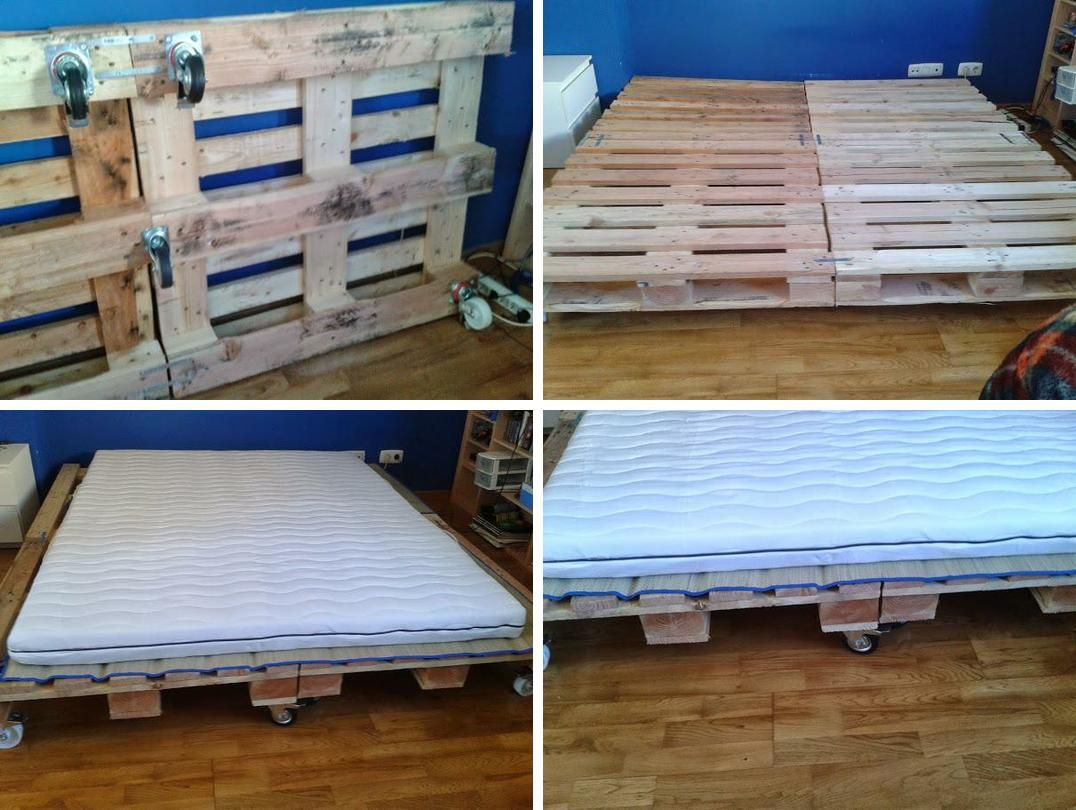 Diy cama de palets paso a paso good ideas pinterest for Cama palets