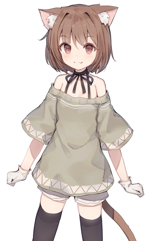 Cute Little Catgirl Original 애니메이션 그리는 법 캐릭터