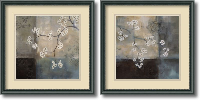 'Spa Blossom' by Laurie Maitland 2 Piece Framed Painting Print Set