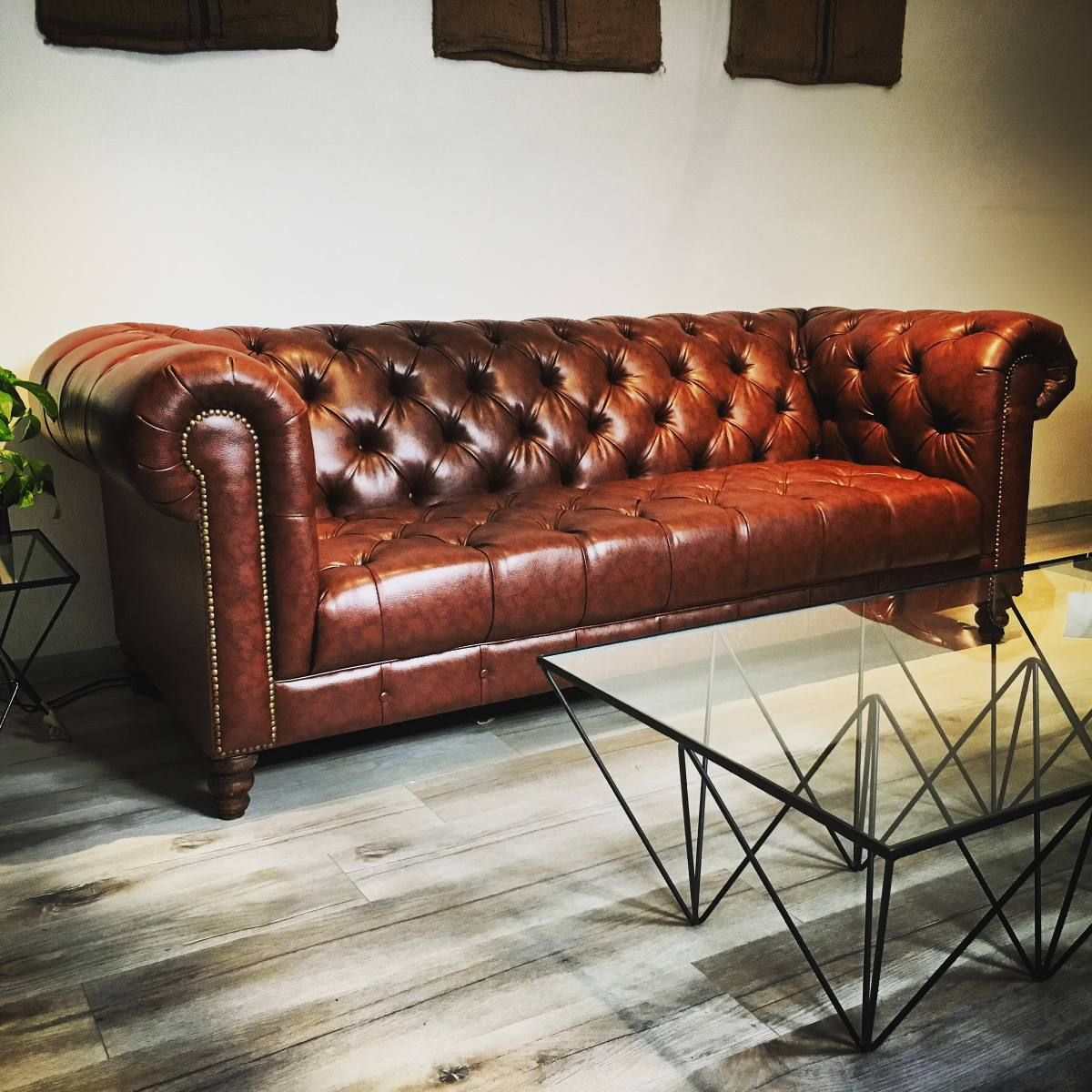 Sof Chesterfield Sala Sill N Mueble Madera Vintage Dise O Depa  # Muebles Banfield