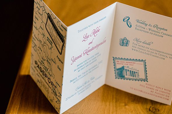 Destination Wedding Invitation Traditional In Greece