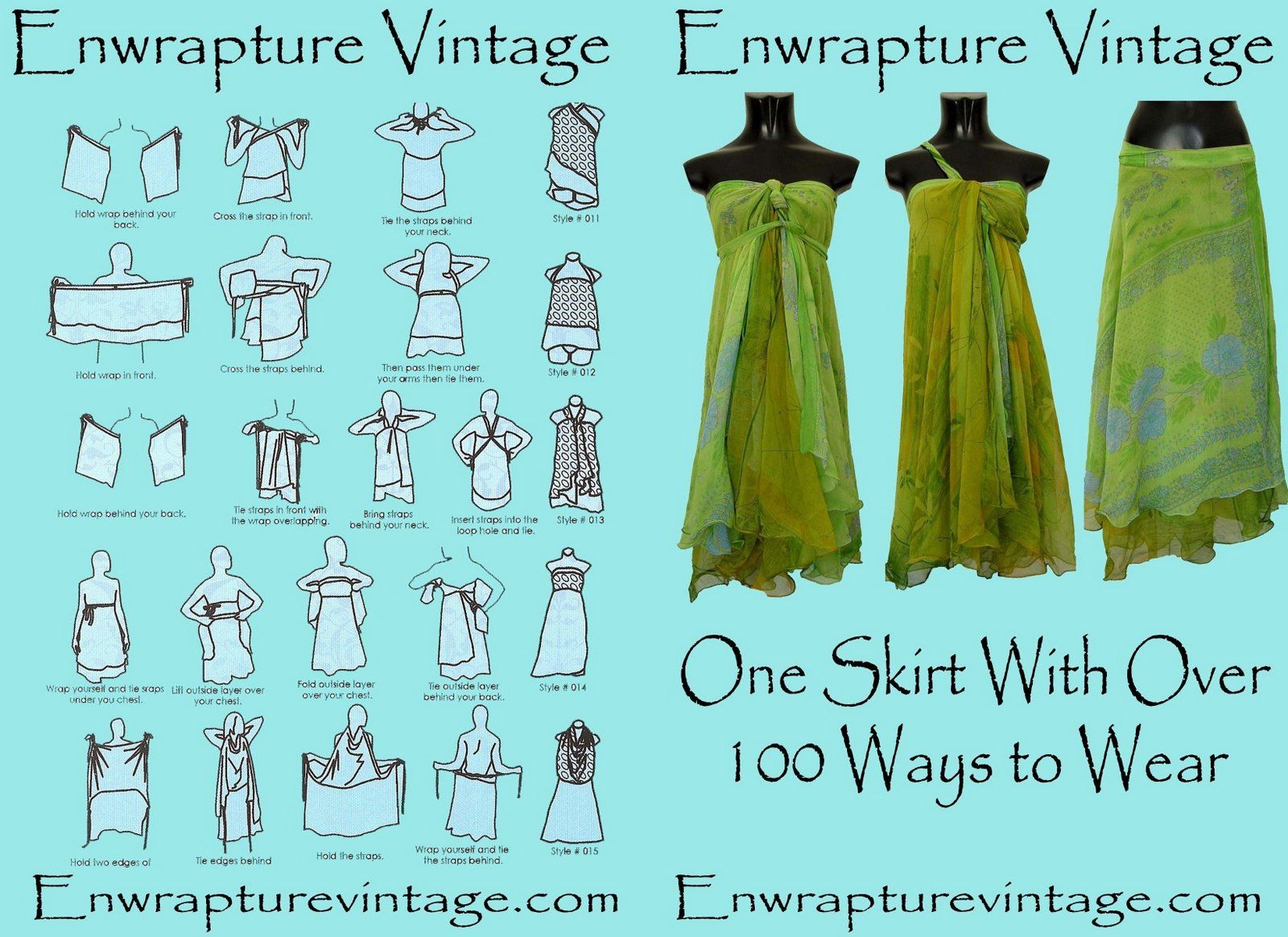 Two-layer wrap - ways to tie - Enwrapture | Fashion | Pinterest