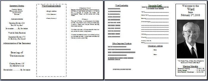 ward bulletin template