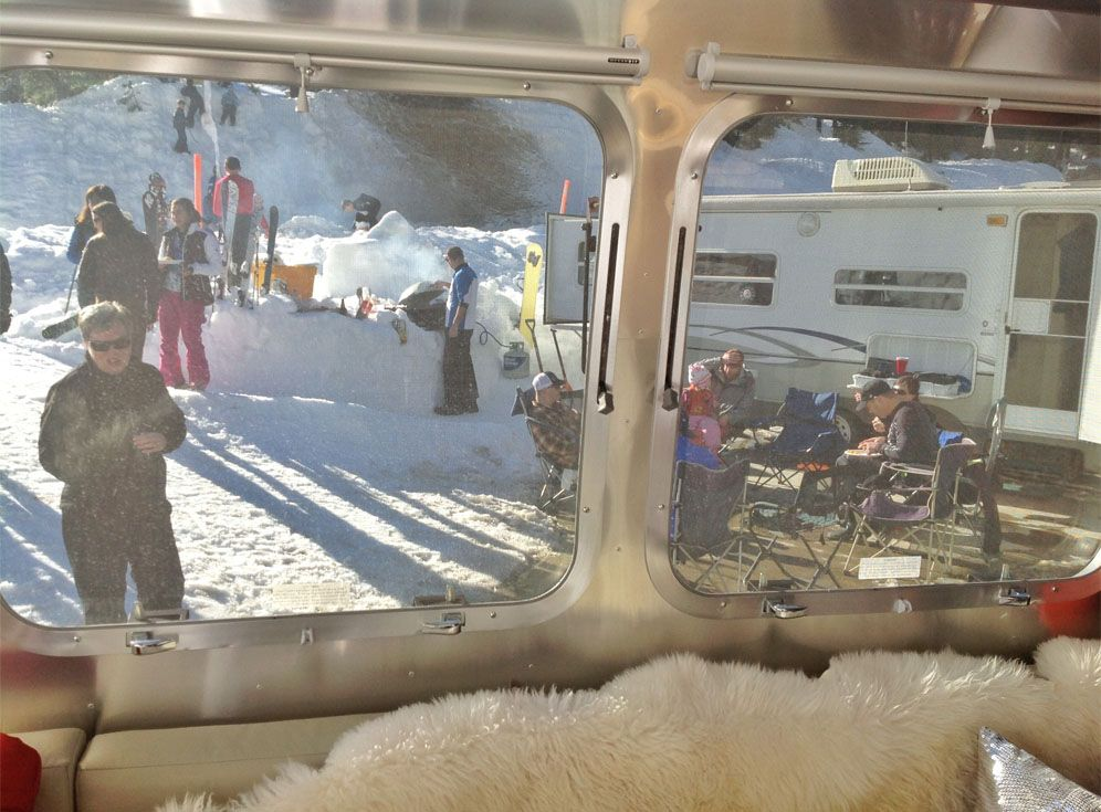 Winter Glamping Airstream Style | Winter camping