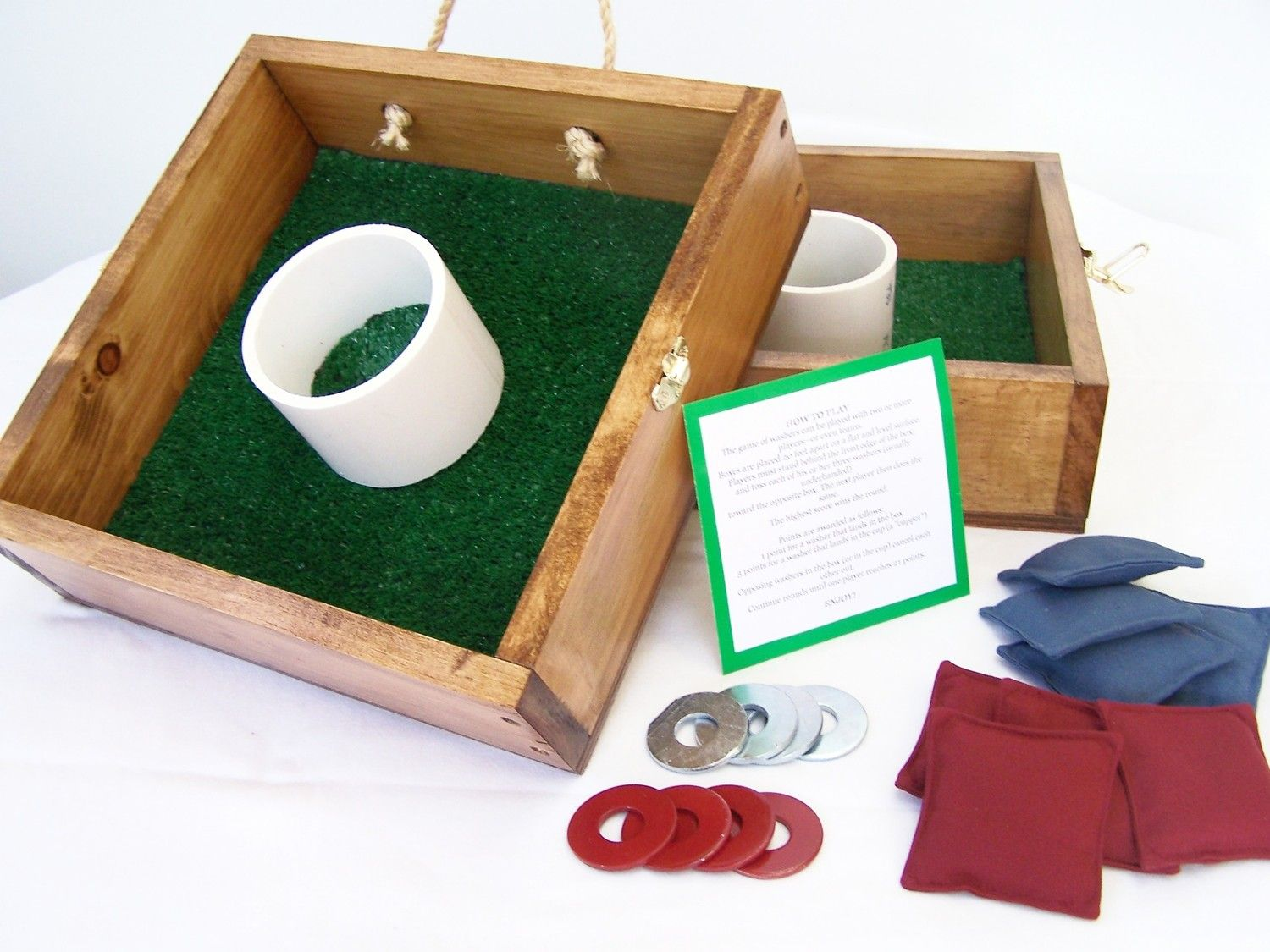 Washer Game, washers & bean bags Fun crafts, Rules for