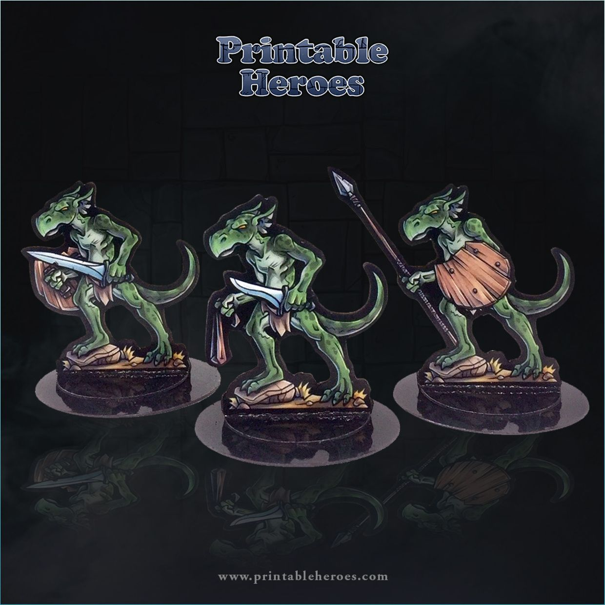 graphic relating to Printable Heroes Patreon identified as PrintableHeroes is designing Paper Miniatures within 2019