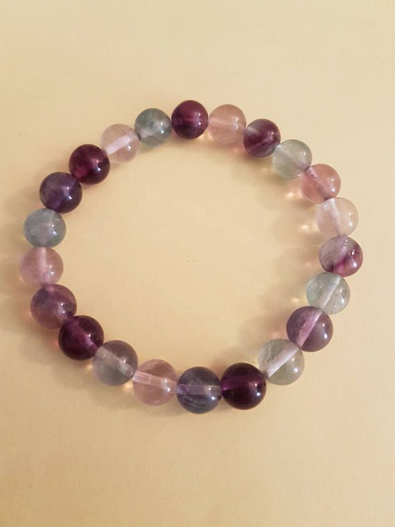 Personalised Engraved 40th Birthday Natural Amethyst Beaded Stretch Bracelet 8mm b8o4f