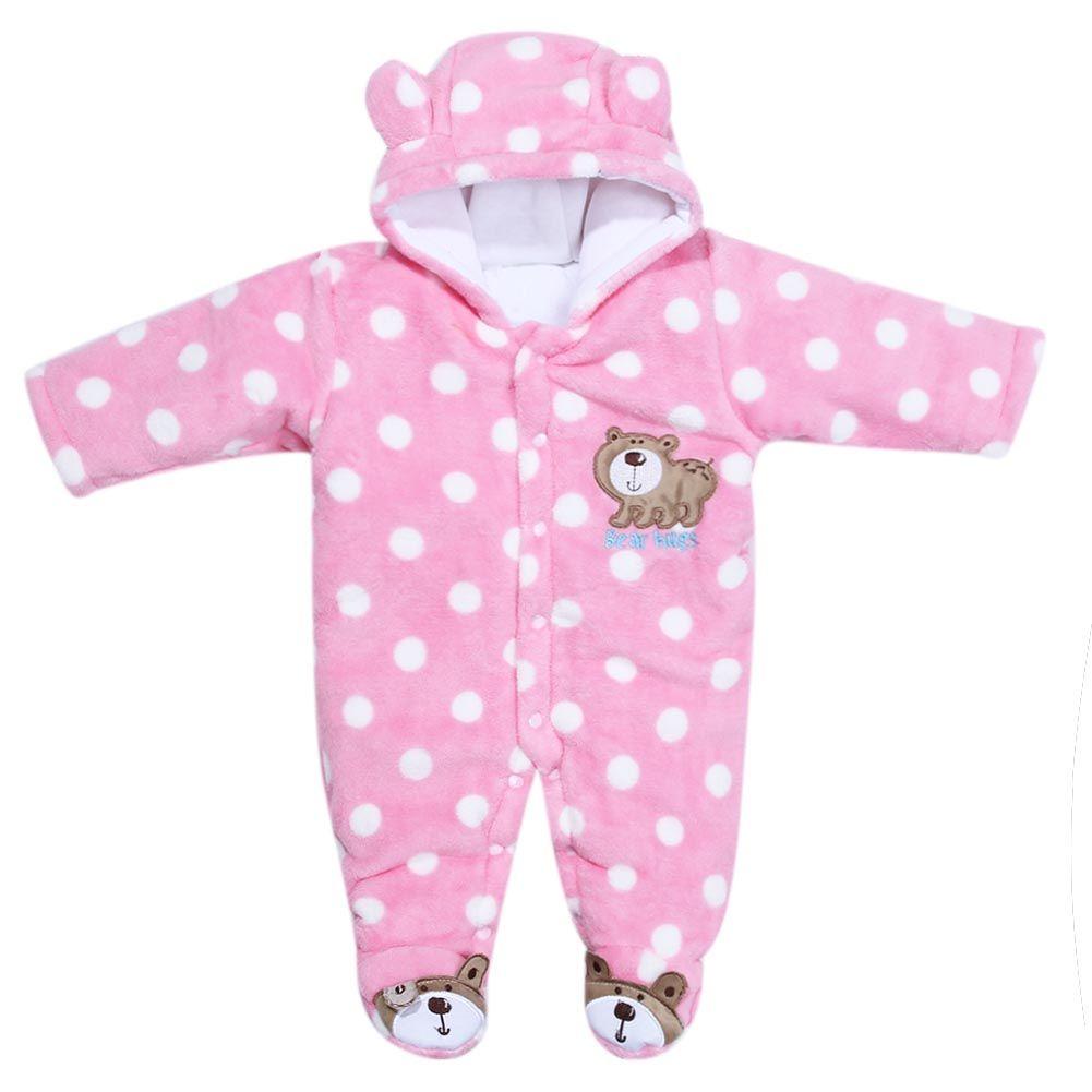 00f3a96f1 2017 Autumn Winter Unisex Newborn Baby Kids Warm Clothes Coral ...