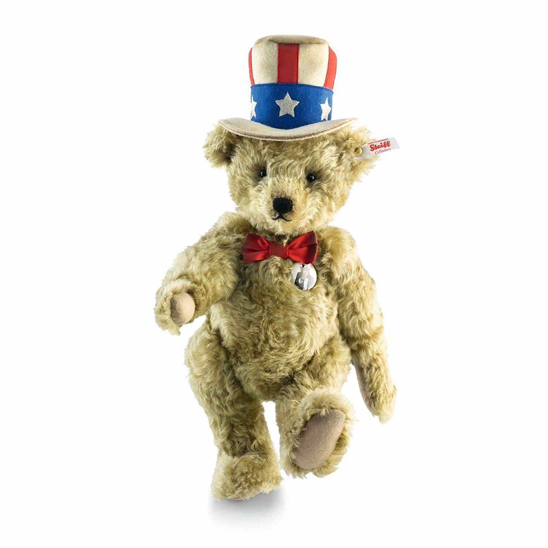 Steiff Uncle Sam Teddy Bear Musical