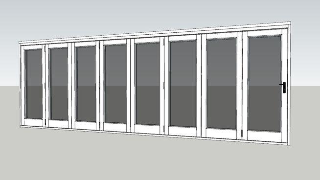 Valdi Folding Sliding Door 8 Door White 3d Warehouse Sliding Doors Sliding Folding Doors Door Molding