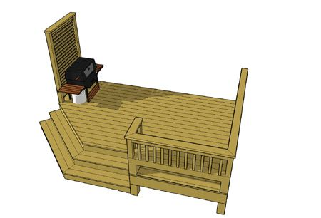 small deck plan used primarily for the entrance of homes get this rh pinterest com small deck plans free small deck plans designs