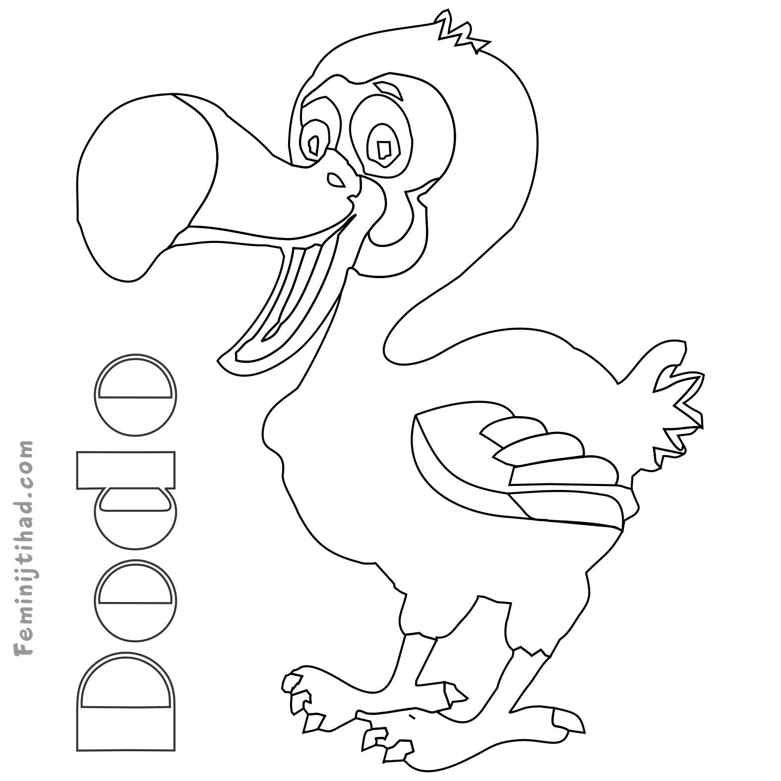 Printable Dodo Coloring Pages Bird Coloring Pages Animal