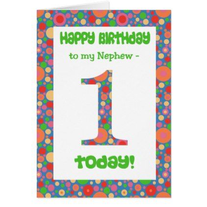 1st Birthday Card For A Nephew Bright And Bubbly Birthday Diy Gift