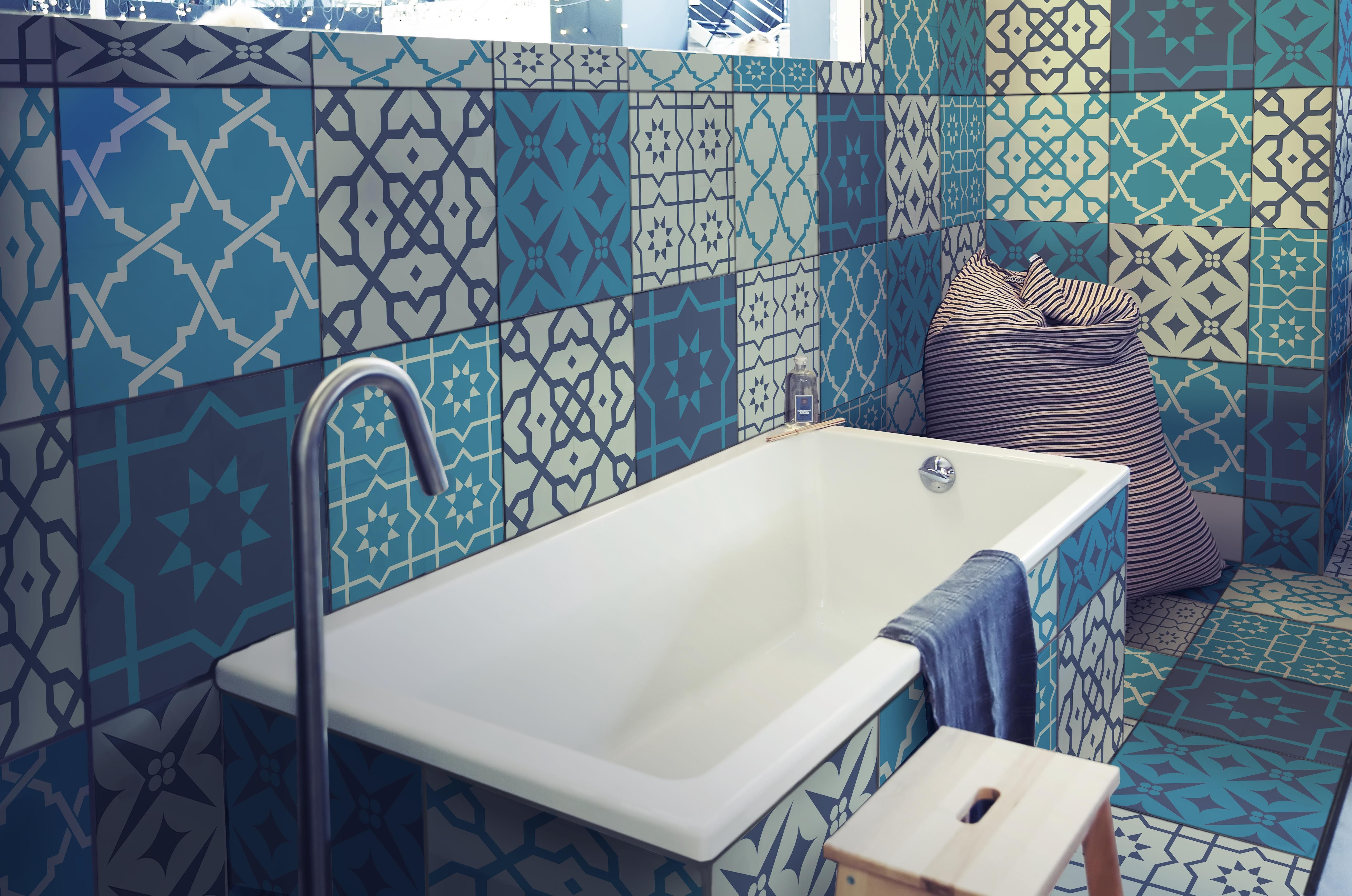 Fliesenaufkleber Set Fur Kuche Bad Design Marokkanisch Mit Bildern Fliesenfolie Fliesenaufkleber Fliesen