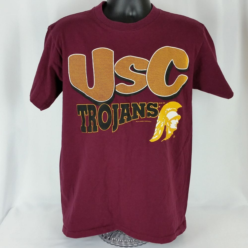 Vtg Usc Trojans 90s Mens Med Tee Shirt Made In Usa Ultimate Sports Wear Graphics Ultimatesportswear Graphictee Tee Shirts Usc Trojans Shirts