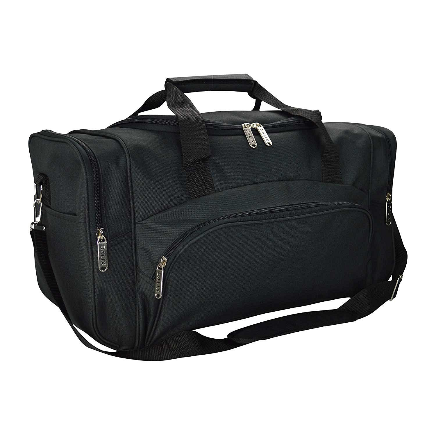 4517896306 Amazon.com  DALIX Signature Travel or Gym Duffle Bag in Navy Blue with Red  Straps  Clothing