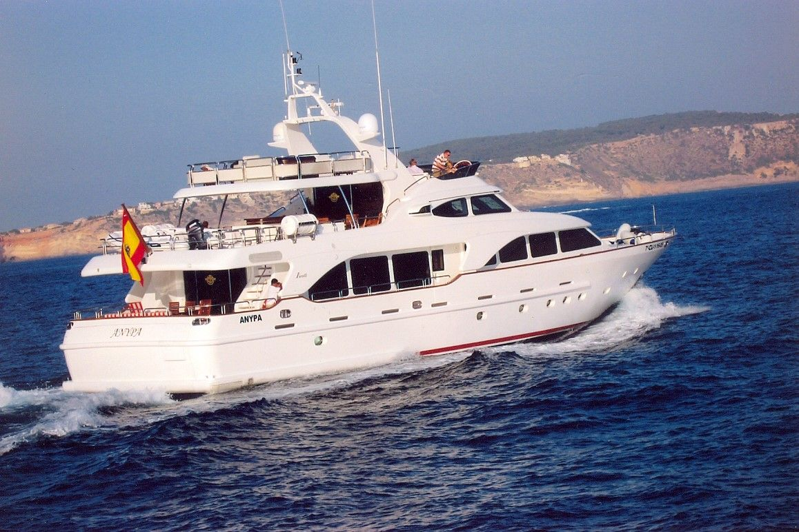 Benetti 100' Motor Yacht Anypa now for charter in Ibiza & Mallorca