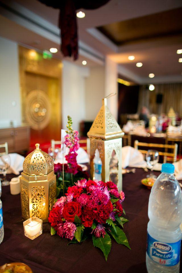 Arabian mood purple red themed wedding purple table covers red arabian mood purple red themed wedding purple table covers red flower centerpieces junglespirit Images