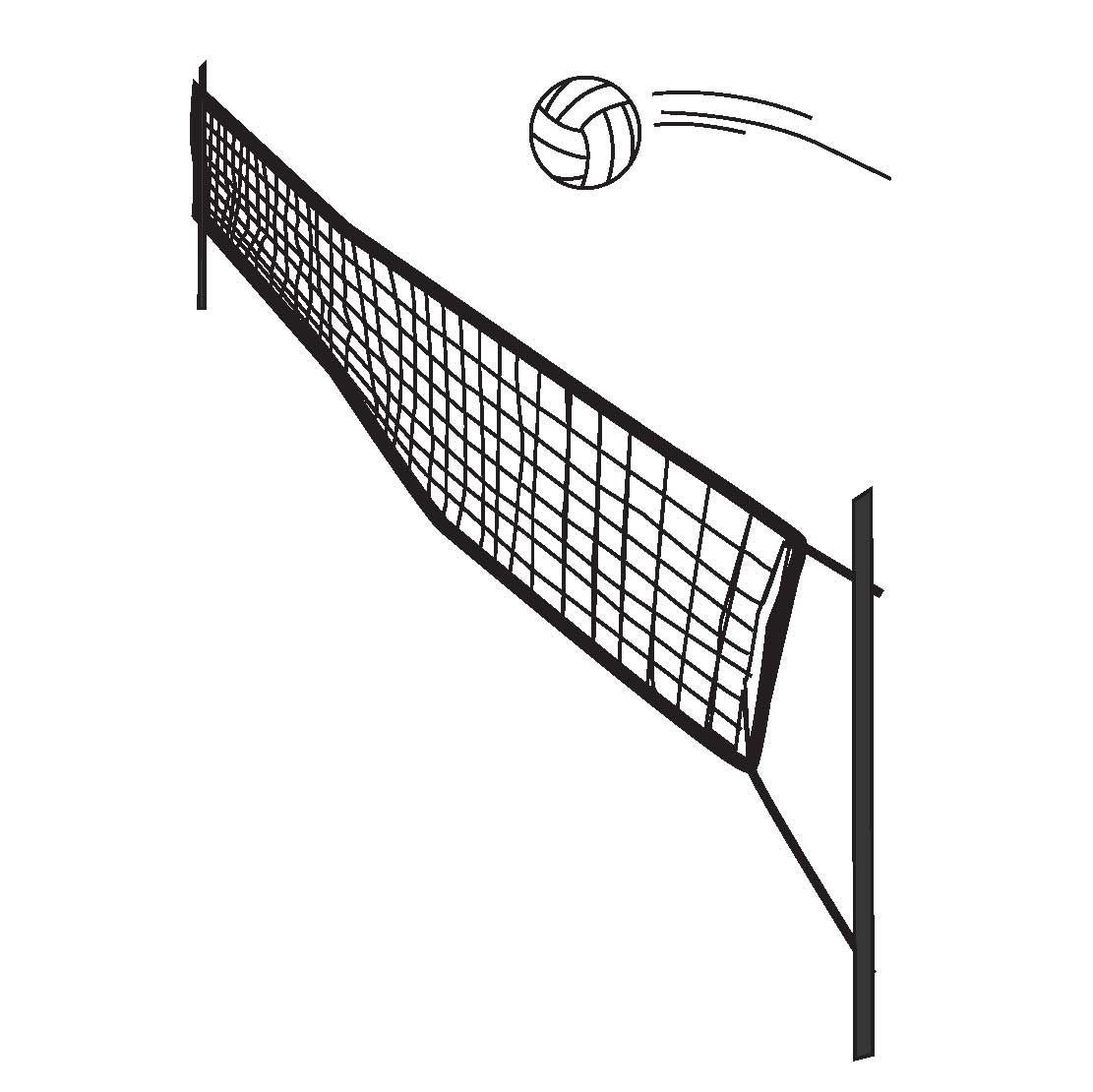 Volleyball Spike Logo Swim N Spike 1 High Res Volleyball Net