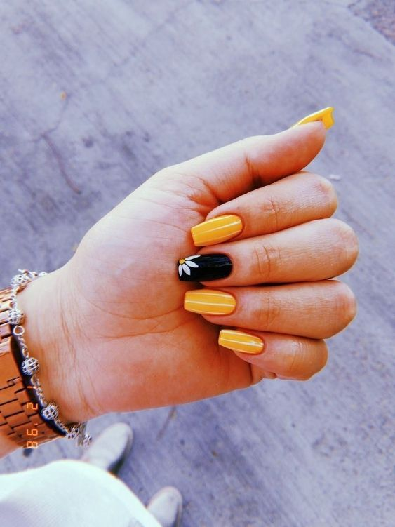45 Bright Summer Nail Art Design Trends On 2019 Molitsy Blog Wedding Acrylic Nails Yellow Nails Solid Color Nails
