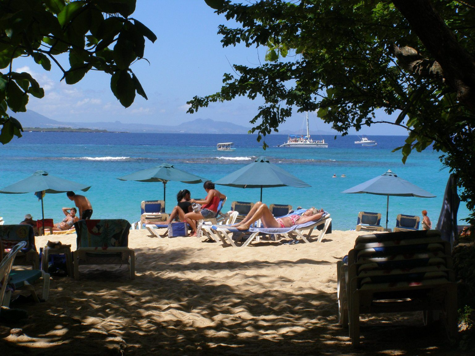 Tourists In Sosua Beach Dr With