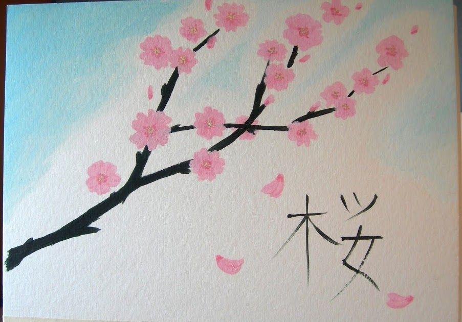 Paling Keren 11 Gambar Lukisan Bunga Yang Simple Lukisan Bunga Sakura Yang Mudah Ditiru Cara Mewarnai Bunga Unduh 5 Lukisan Bunga Bunga Sakura Lukisan Mudah