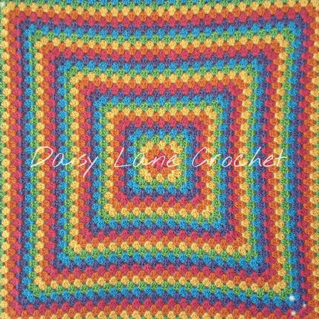 #grannysquare #grannysquareblanket #rainbow #rainbowblanket #crochetersofinstagram #handmade #crochet #crochetaddict #yarnaddict #stylecraft #crochetblanket by daisylanecrochet