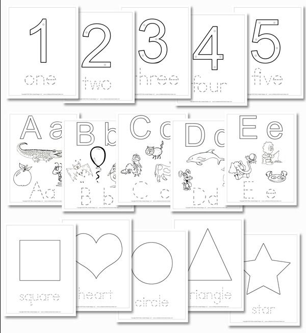 preschool daily learning notebook numbers shapes and letter inserts homeschool printables. Black Bedroom Furniture Sets. Home Design Ideas
