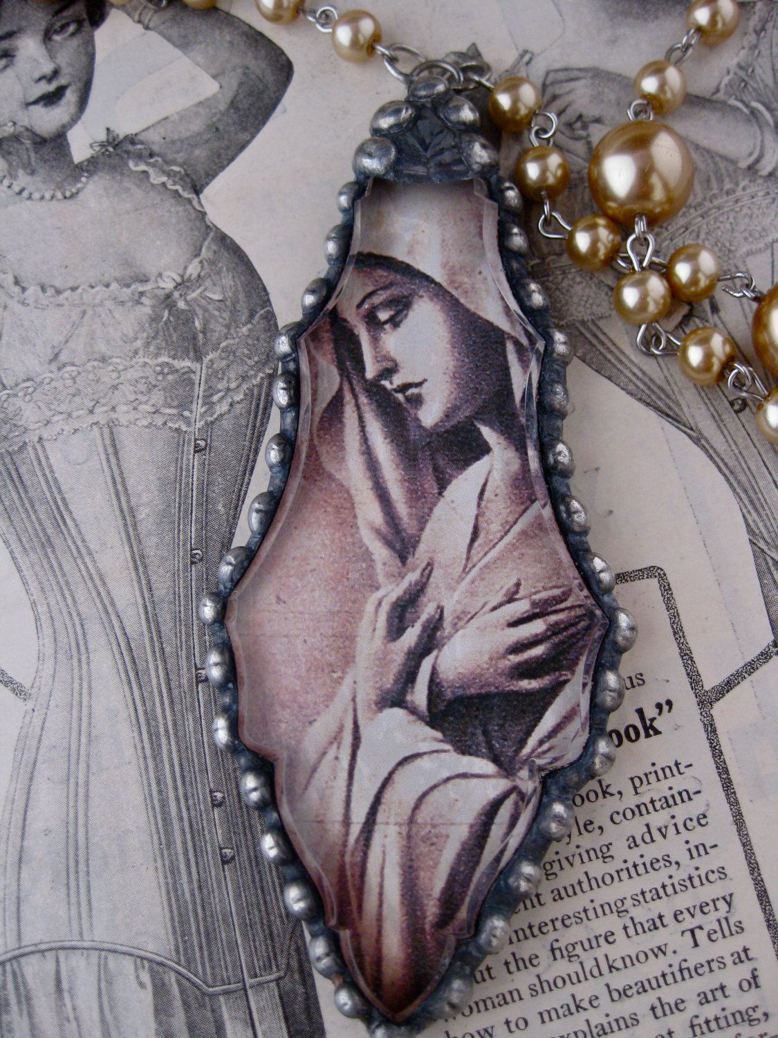 Holy Mother Chandelier Crystal Necklace Soldered Creations - Chandelier crystals crafts