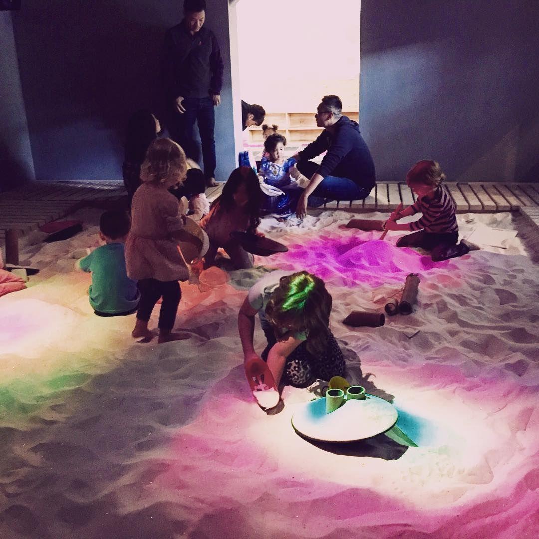 Light therapy sandbox, the New Children's Museum, San Diego