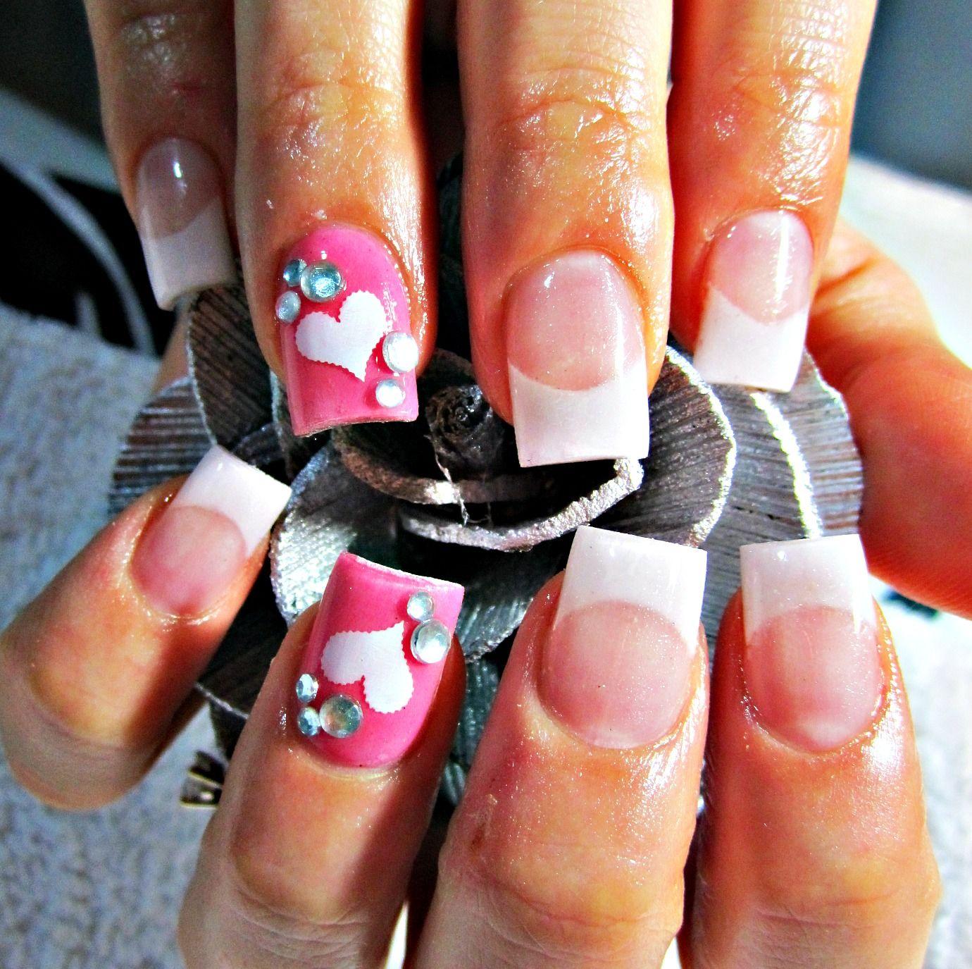 Lovely french acrylic nails nails pinterest nail nail nail