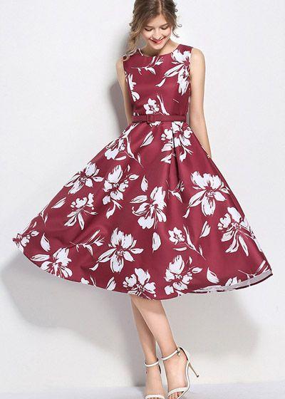 7125e2eea6de Vestido Midi Floral Rodado Gode Festa para Look Elegante e Romantico |  UFashionShop