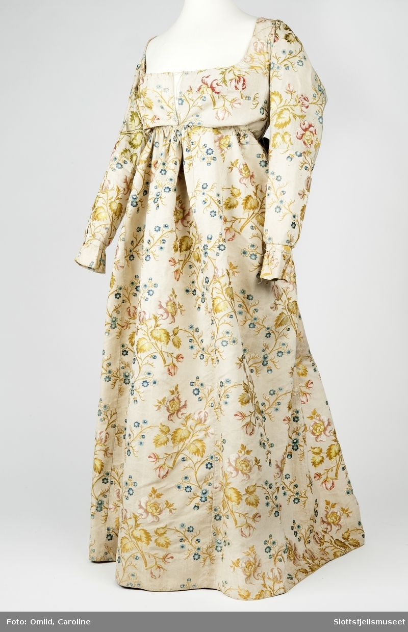 c.1810, but fabric older than the dress, mid 18th century