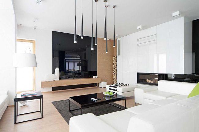 Quelle couleur ajouter à une décoration noir et blanc Living rooms