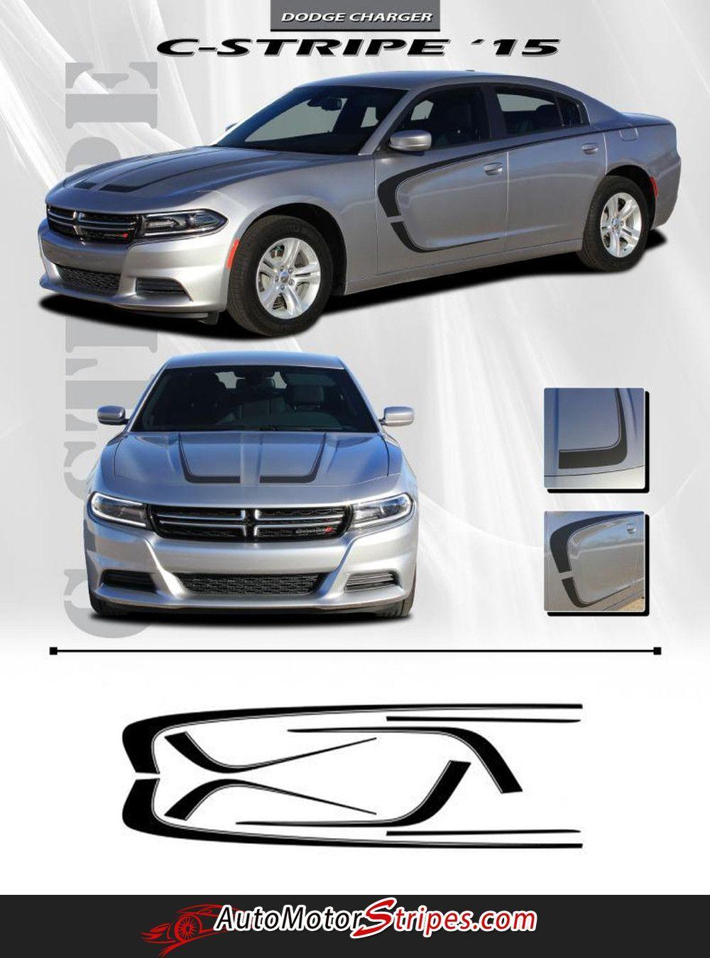 2015 2016 dodge charger c stripe combo hood and door sides mopar style vinyl