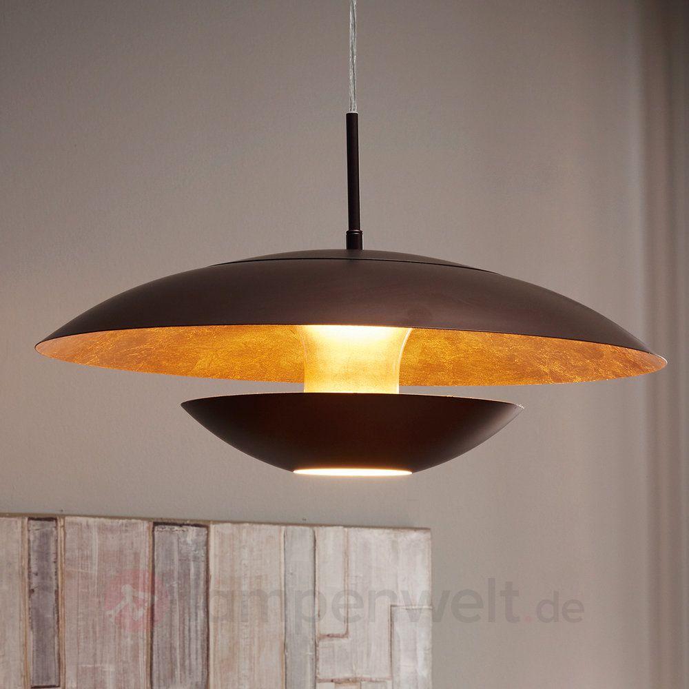 Braun Golden Lackierte Hangeleuchte Nuvano Kaufen Lampe Lampen