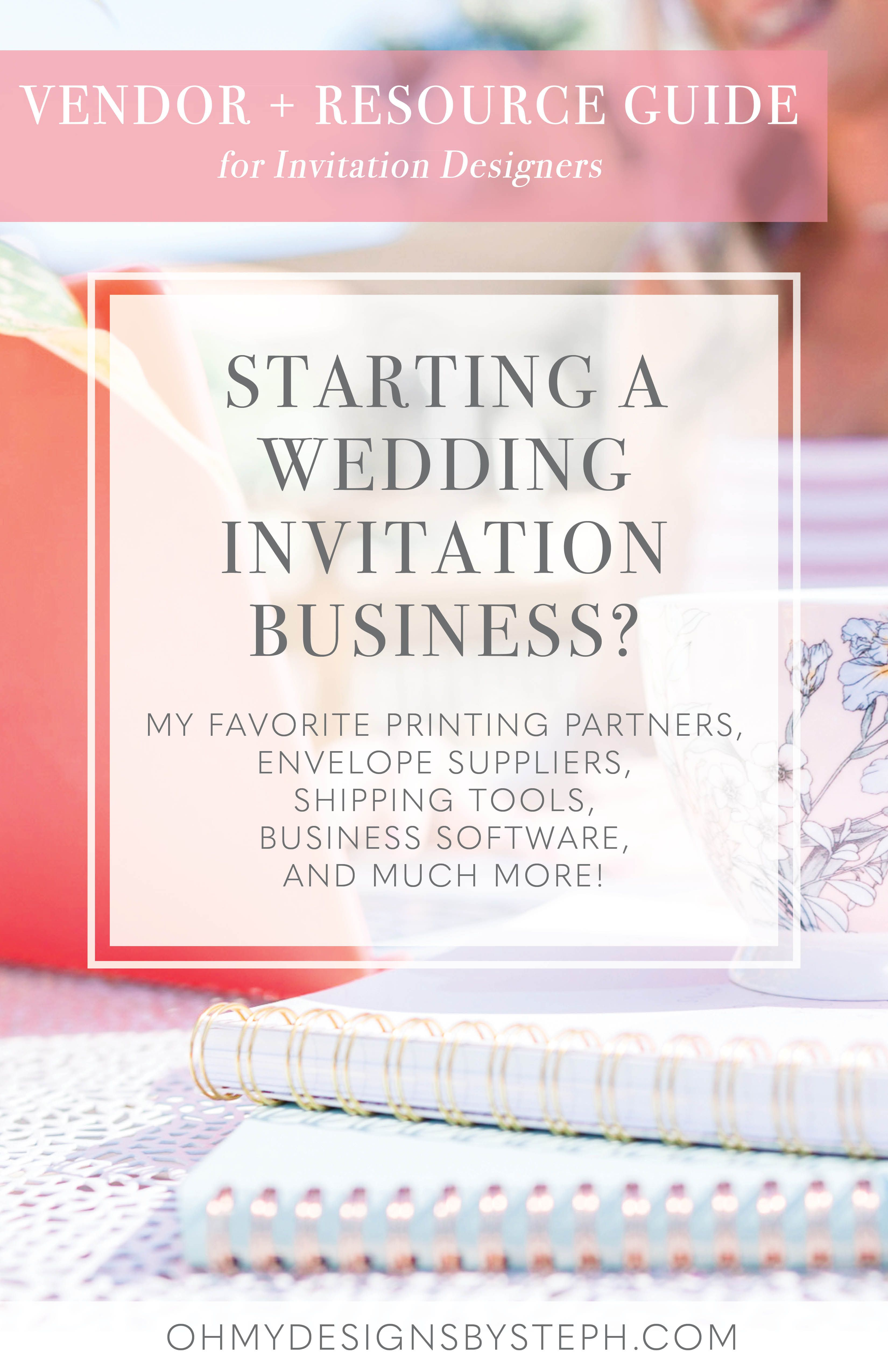 Vendor List And Resource Guide For Invitation Designers With
