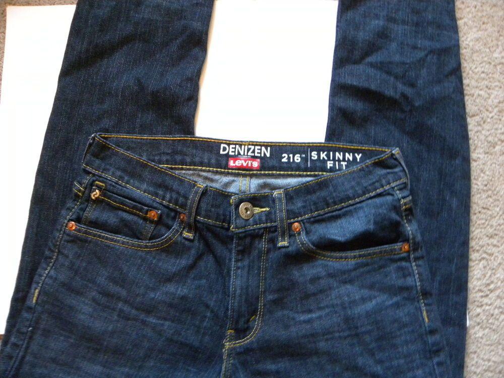 c845c79d Levi's Denizen 216 Skinny Fit Jeans Men's 29 X 32 Blue Stretch #Levis  #SlimSkinny