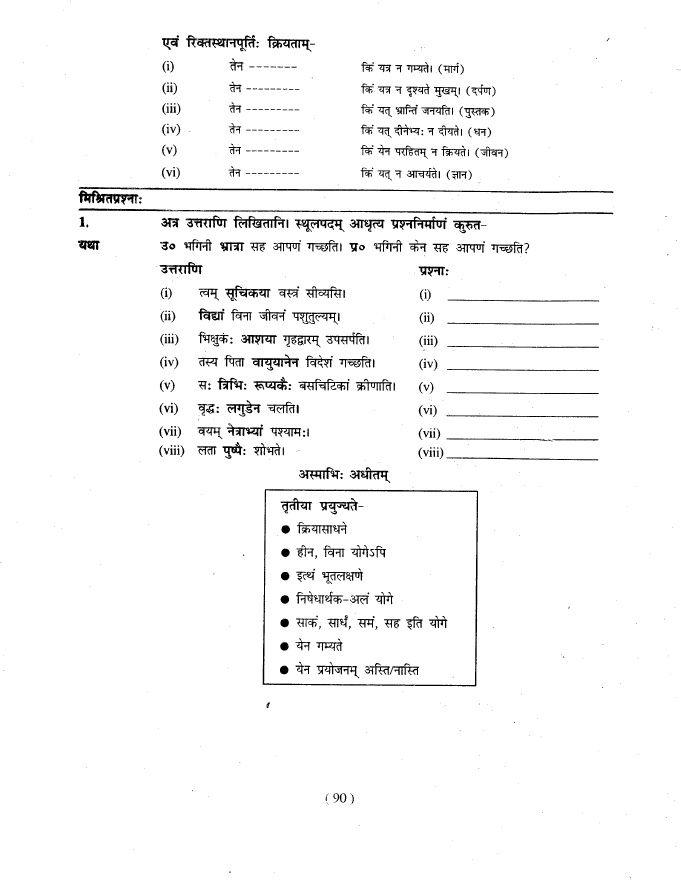 MANIKA SANSKRIT WORKBOOK CLASS 9 PDF