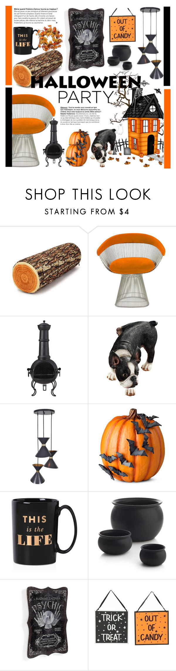 """""""Decorating Inspiration: Halloween Party"""" by cstarzforhome ❤ liked on Polyvore featuring interior, interiors, interior design, home, home decor, interior decorating, Knoll, La Hacienda, Improvements and Kate Spade"""