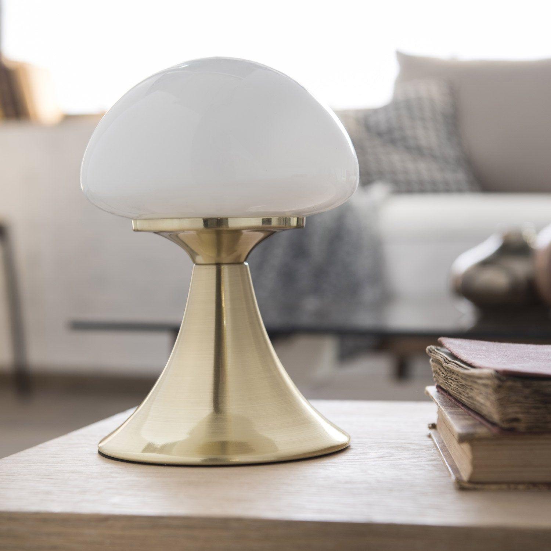 Lampe Tactile Chic Metal Chromee Brillant Commande Inspire Kinoko Lampe Tactile Lamp Lampe De Chevet