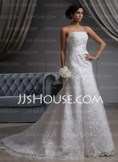 Vestidos de novia - $325.99 - Corte A/Princesa Sin tirantes novia ...