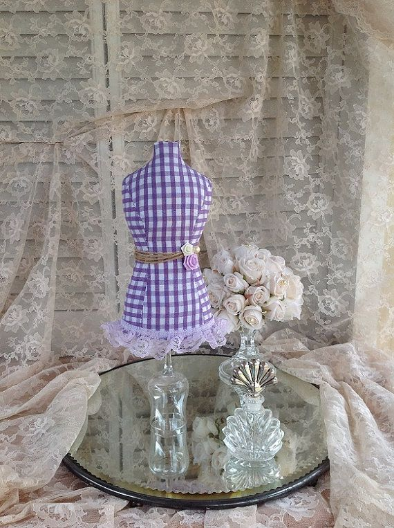 Necklace Display Mannequin Dress Form Jewelry Stand Fabric Mini